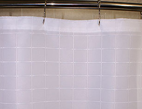 Custom Size Shower Curtains Polyester Millenium White