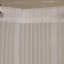 Custom Siz Shower Curtain Striped Nylon-white