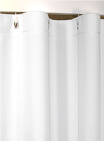 Custom Size Shower Curtains Eco Friendly Peva Plain White