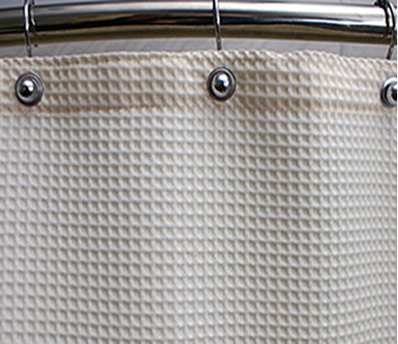 Custom Size Shower Curtains Polyester Waffle Beige