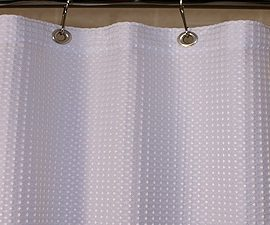 Custom Size Shower Curtains Polyester Waffle White