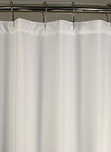 Custom Length Shower Curtains Plain Hotel Nylon