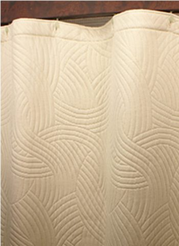 Custom Size Shower Curtains Eco Friendly Matelasse Breezes