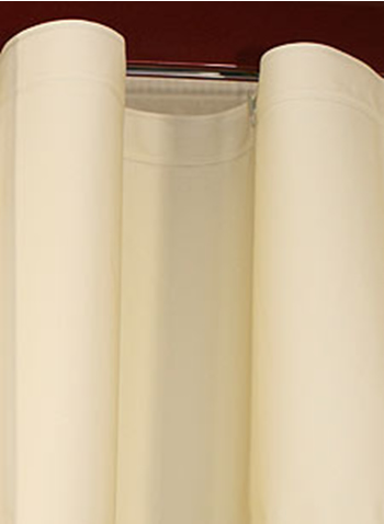 Custom Size Shower Curtains Eco-friendly Peva Plain Beige