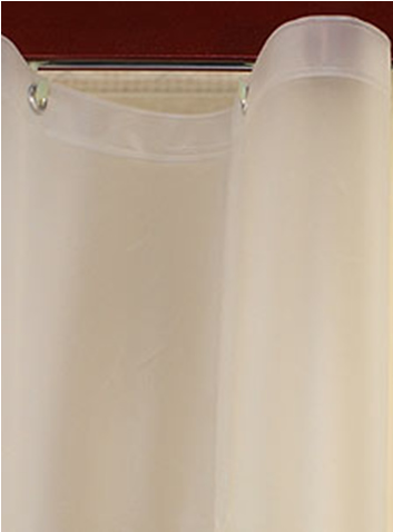 Custom Size Shower Curtains Eco-friendly Peva Plain Frosty