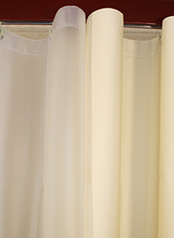 Custom Size Shower Curtains Eco Friendly Peva Plain