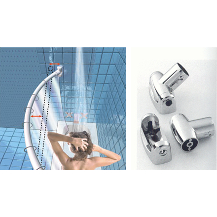 Stainless Steel Curved Shower Curtain Rods - Bradfords of Tampa
